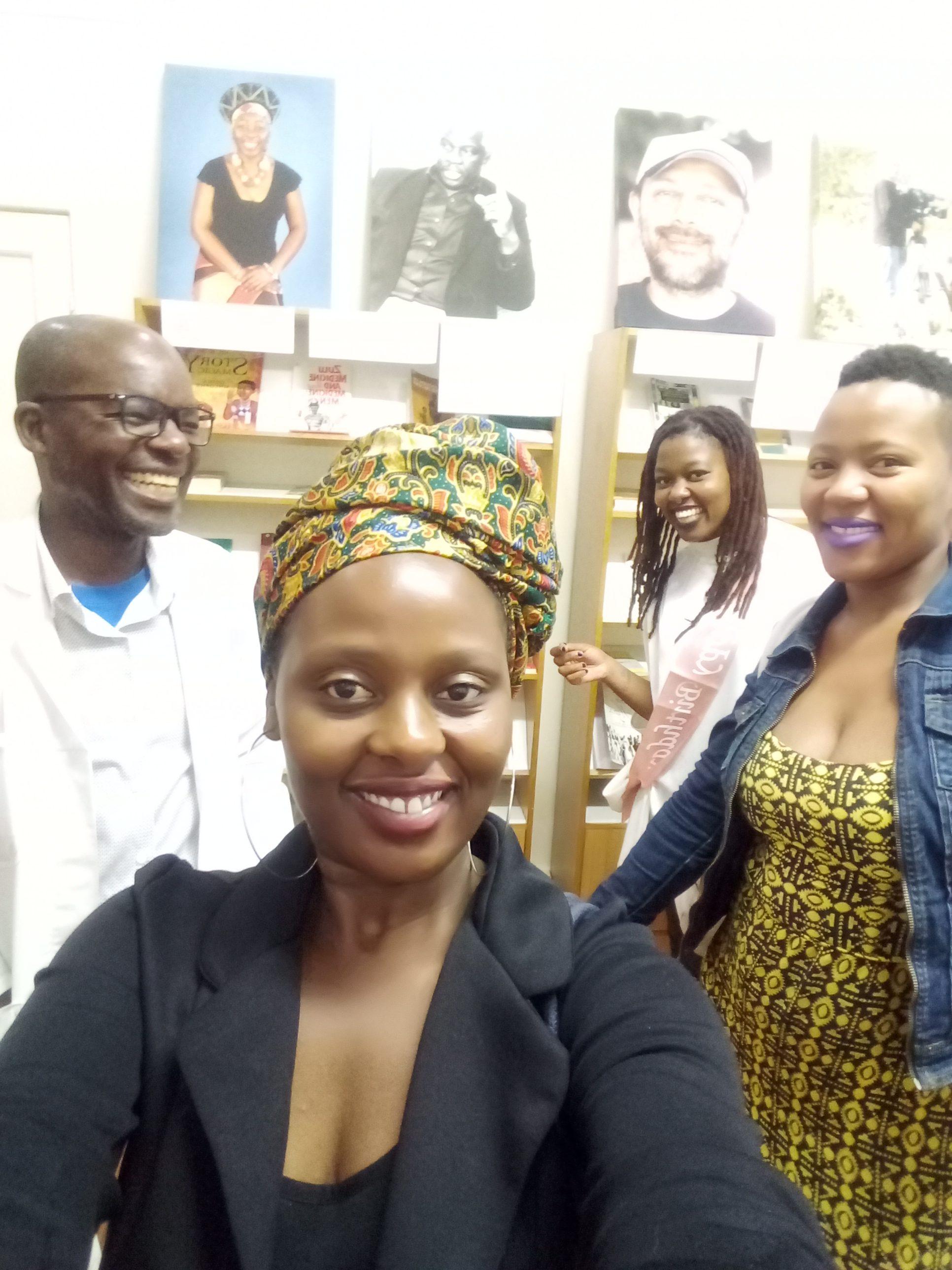 In front is Linda Masango, far back is Saneliwise Phungula and far right is Khetho Masango